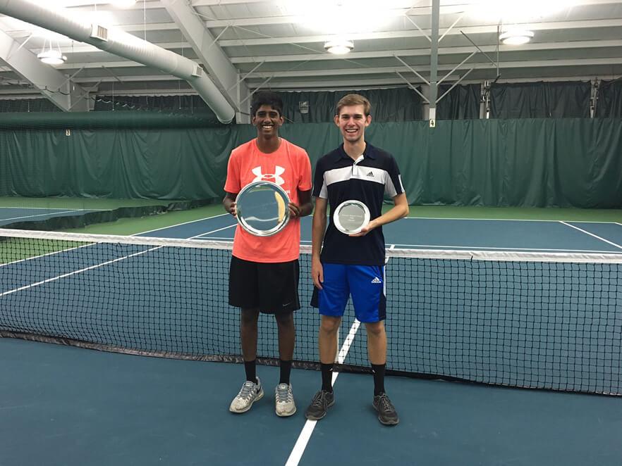 Men's A Singles: L-R Winner: Rohit Yerram Finalist: Brock Higley