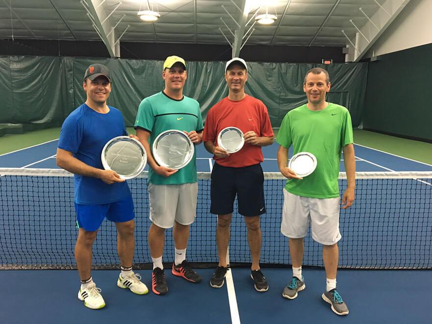 Men's Open: L-R: Winners: Marty Kresac, Rob Norton Finalists: George Markell, Kent Fleming