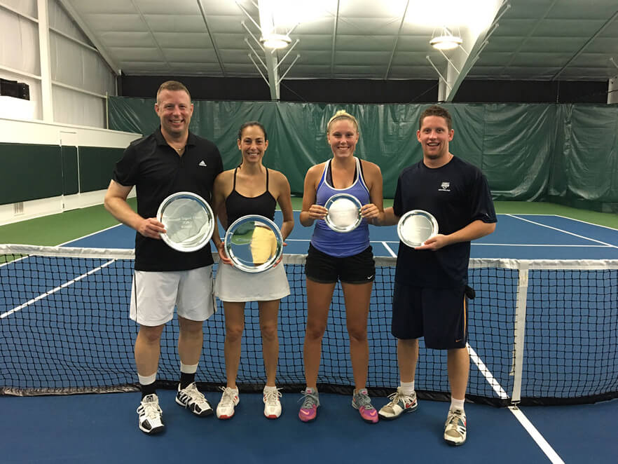 Mixed Open Doubles: L-R Winners: Jim Santoro, Chance Fachtor Finalists: Cassie Burbine, Alex Burbine