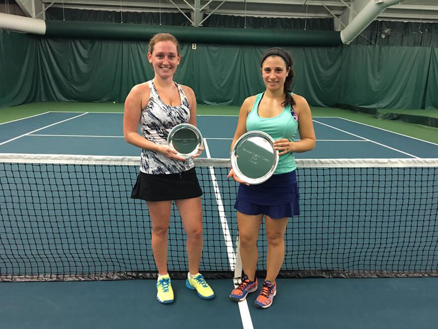 Women's A Singles: L-R Finalist: Erica Murphy Winner: Cindy Campobasso