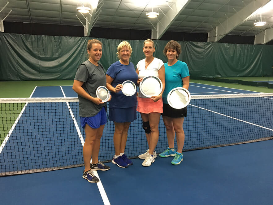 Women's Open Doubles: L-R Finalists: Kelly Comolli, Roxanne Comolli: Winners: Lisa Tholen, Sue Benoit