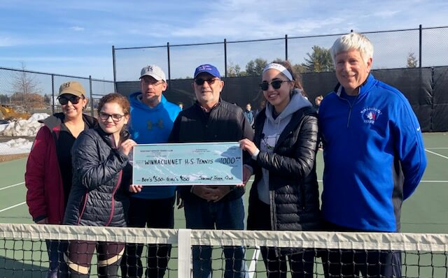 seacoast tennis club donates money to WHS