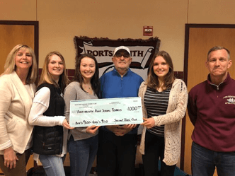 seacoast tennis club donates money to PHS
